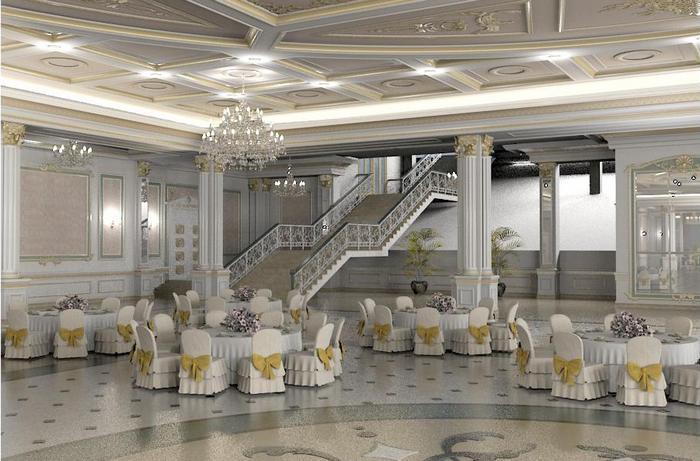 Congress hall winter wedding
